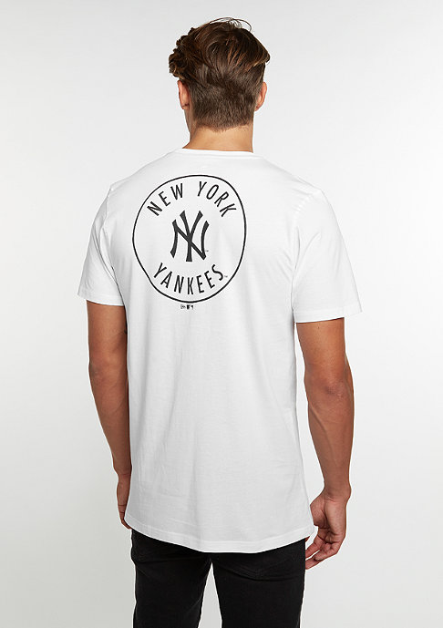 New Era Roundback MLB New York Yankees optic white
