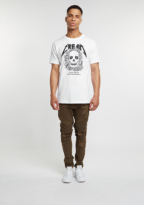 Mister Tee T-Shirt Cream Skull white