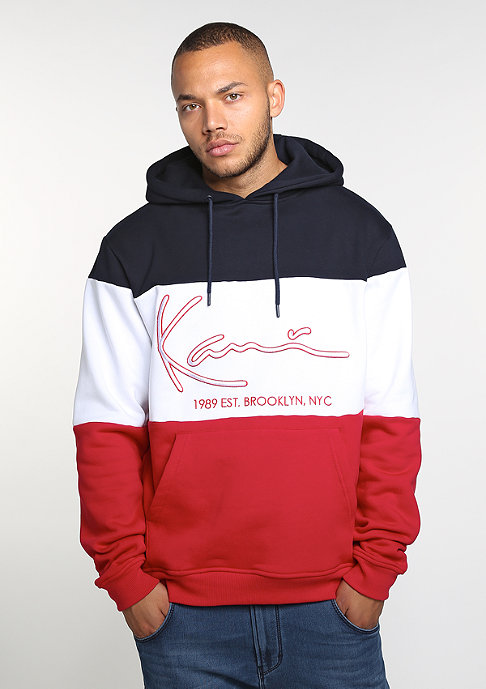 Karl Kani Hooded-Sweatshirt Stripes blue/white/red