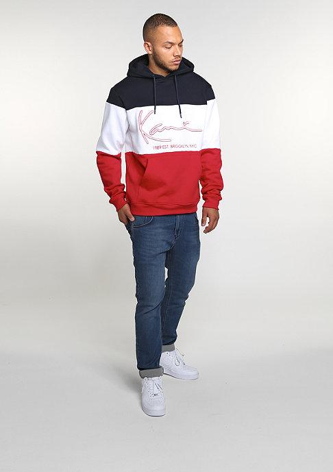 Karl Kani Hooded-Sweatshirt Stripes blue/white/red