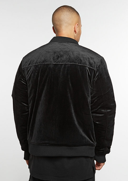 Cayler & Sons CSBL Jacket Series Bomber black velour/ white