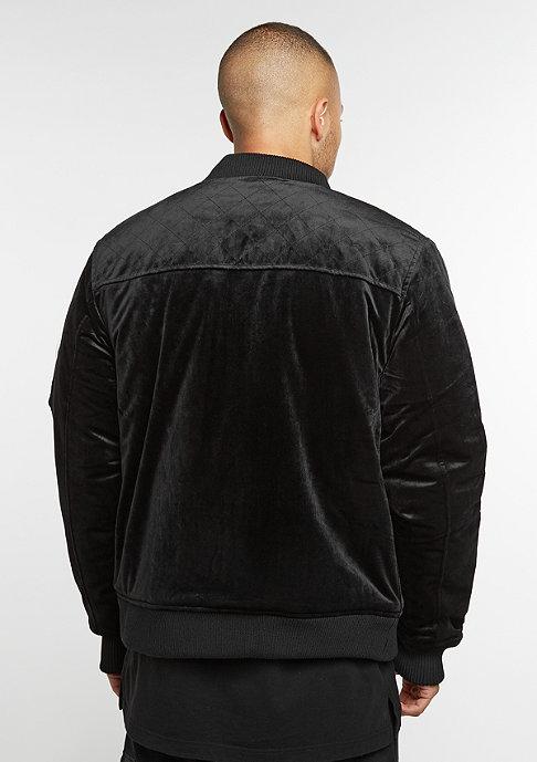 Cayler & Sons CSBL Jacket Series Bomber black velour/ white
