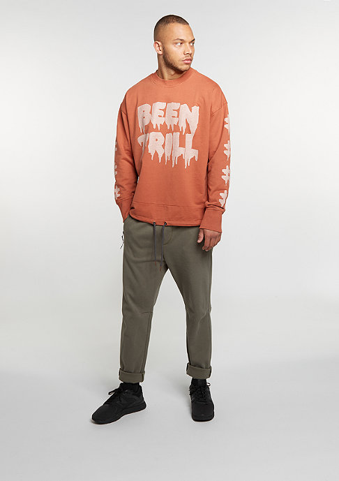 Been Trill Sweatshirt Oversized Crew rust