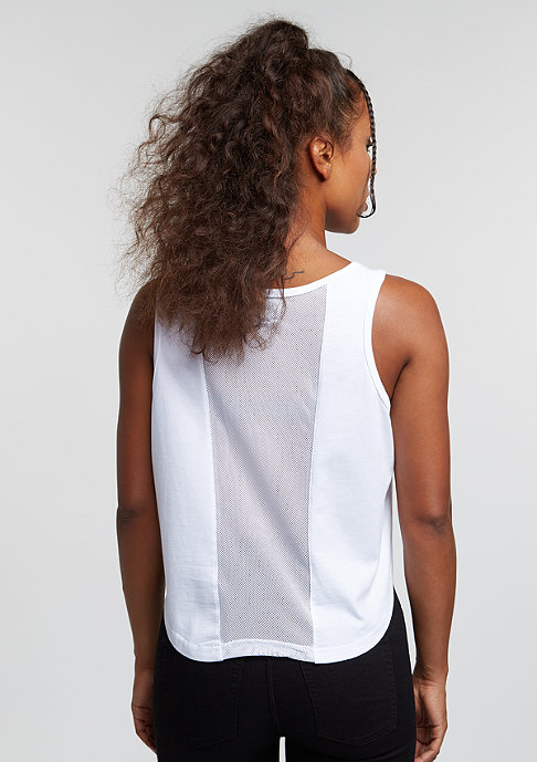 Future Past Sorry Cropped Top white