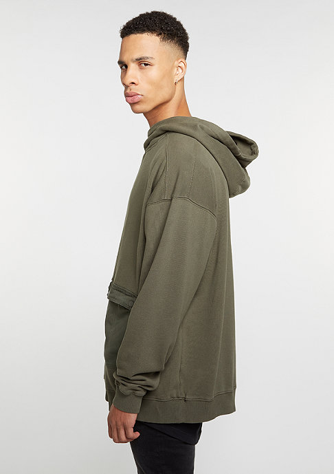 Future Past Hooded-Sweatshirt Military Hoody olive