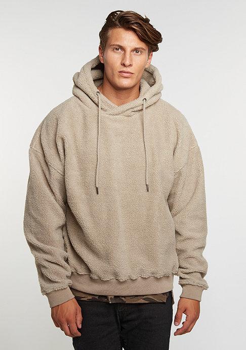 Future Past Hooded-Sweatshirt Sherpa taupe