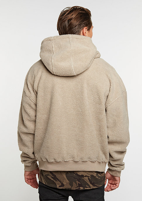 Future Past Sherpa Hoody taupe