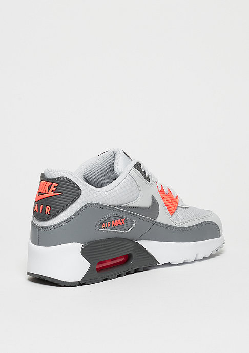 NIKE Schuh Air Max 90 Mesh (GS) pure platinum/cool grey/lava glow