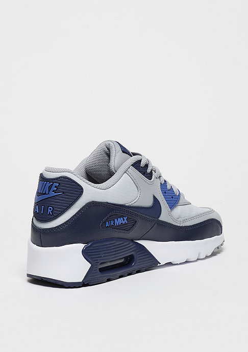 NIKE Schuh Air Max 90 Mesh (GS) wolf grey/binary blue/comet blue