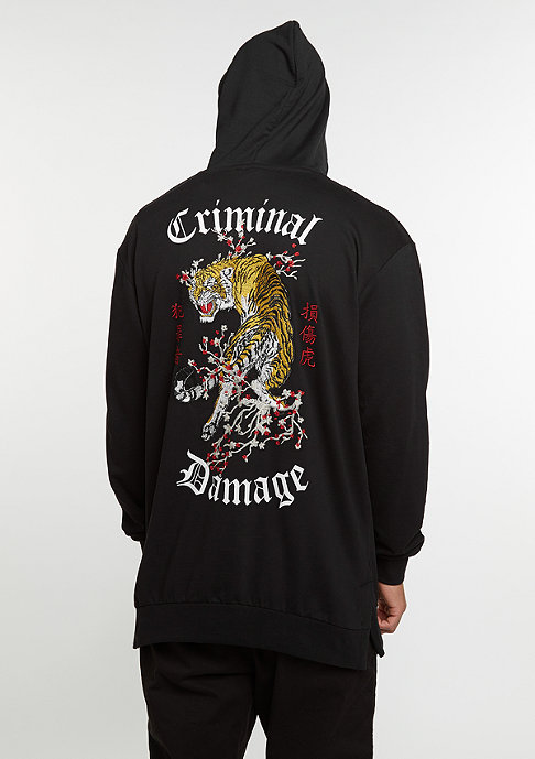 Criminal Damage CD Hood Tiger black/multi