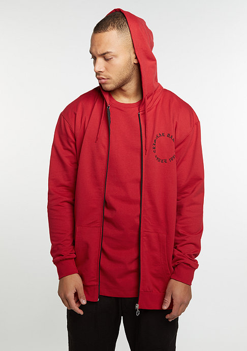 Criminal Damage CD Hood Zip Dragon red/multi