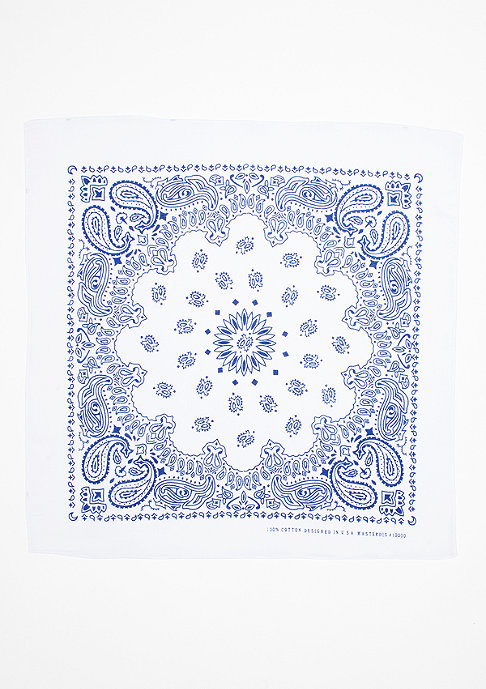 Masterdis Bandana white/royal