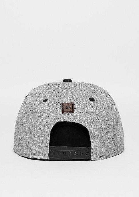 Masterdis Snapback-Cap Letter B heather grey