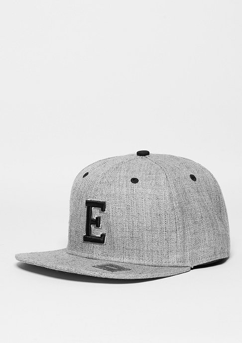 Masterdis Snapback-Cap Letter E heather grey