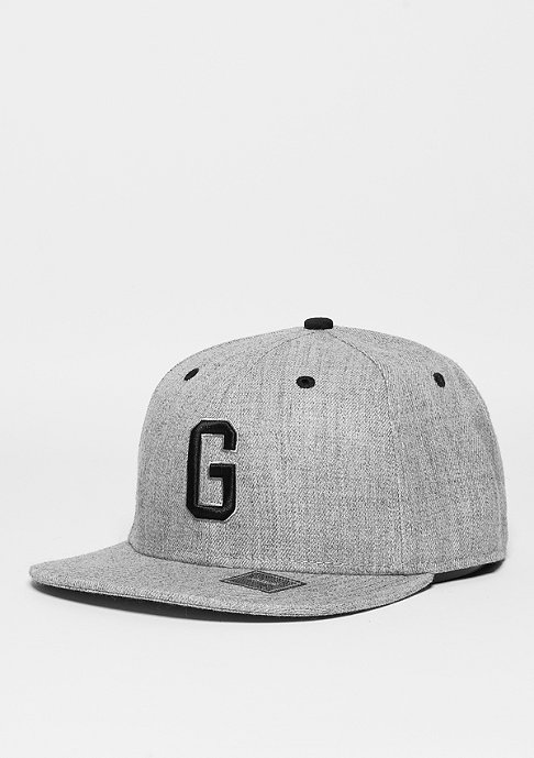 Masterdis Snapback-Cap Letter G heather grey