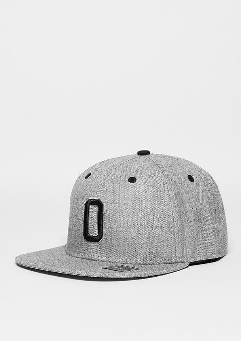 Masterdis Snapback-Cap Letter O heather grey