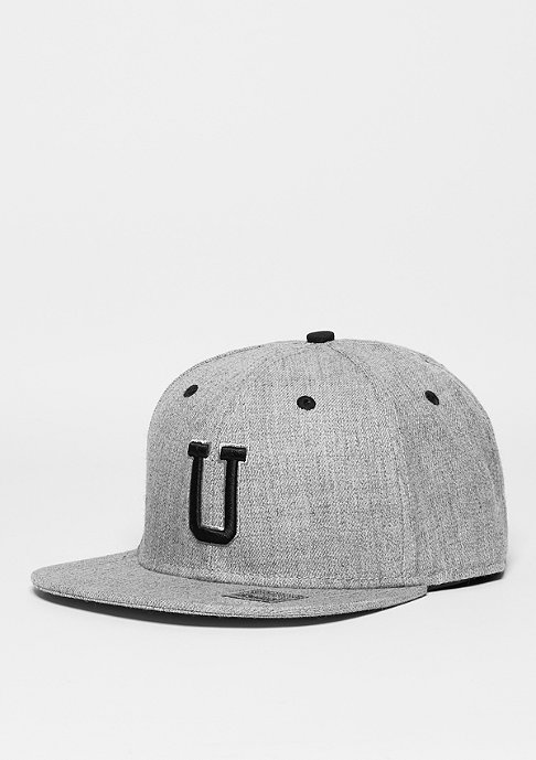 Masterdis Snapback-Cap Letter U heather grey