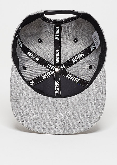 Masterdis Snapback-Cap Letter V heather grey