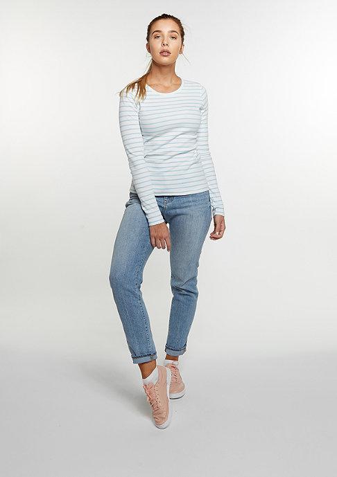 Flatbush Stripes white/light blue