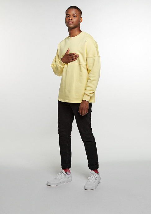 Future Past Sweatshirt Oversized Crew yellow