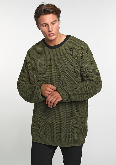 Future Past Knit Crew olive