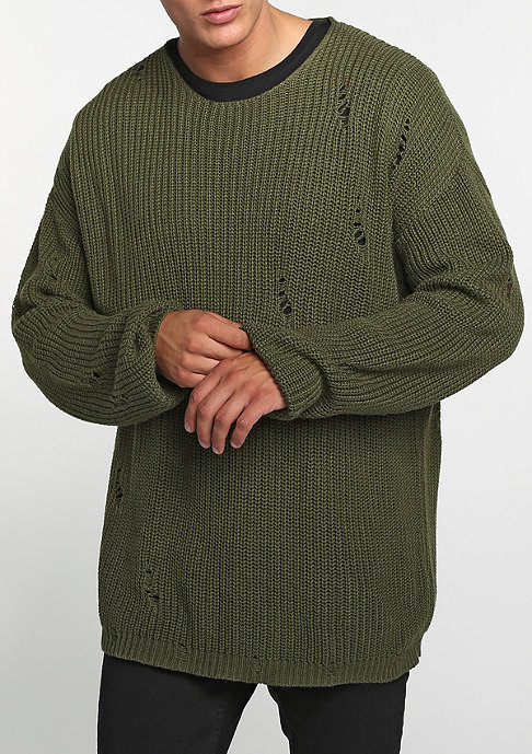 Future Past Sweatshirt Knit Crew olive