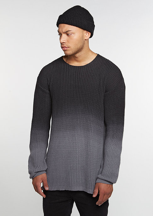 Future Past Washed Knit Crew charcoal
