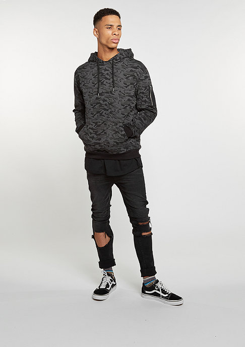 Urban Classics Hooded-Sweatshirt Bomber dark camo