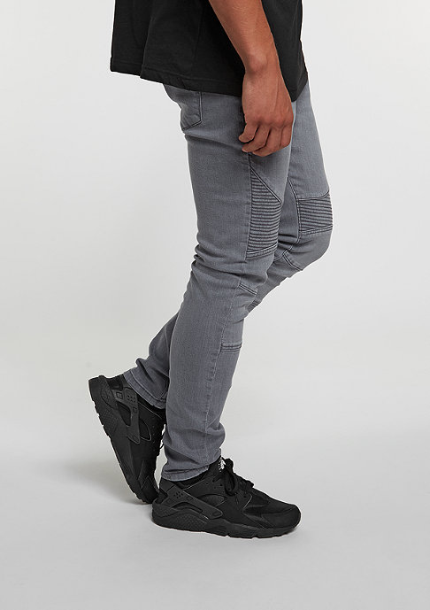 Urban Classics Jeans-Hose Slim Fit Biker grey