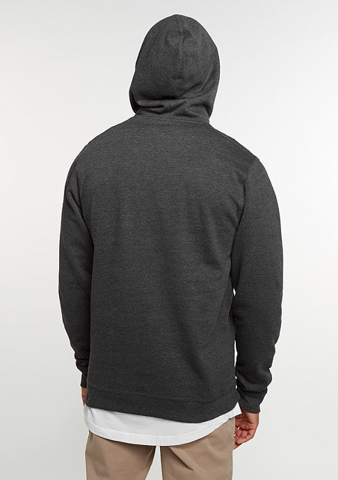 SNIPES Hooded-Sweatshirt Chest Logo charcoal/white embroidery