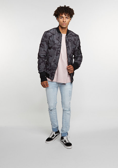 Sixth June Camouflage Bomber black
