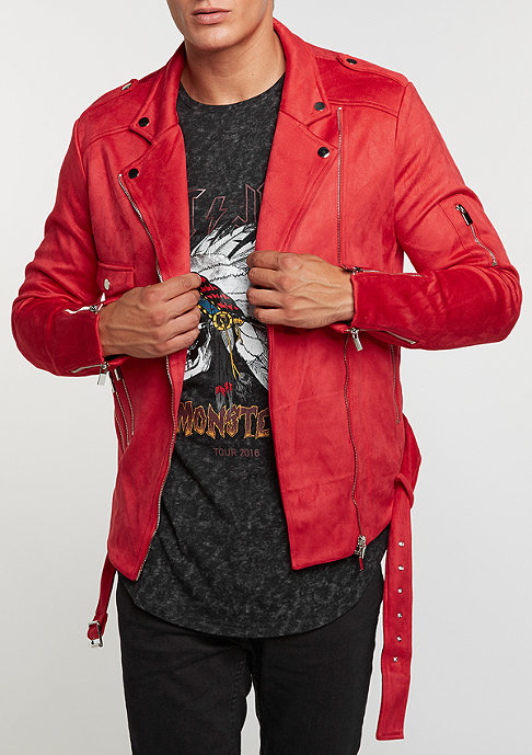 Sixth June Übergangsjacke Faux Suede Perfecto red