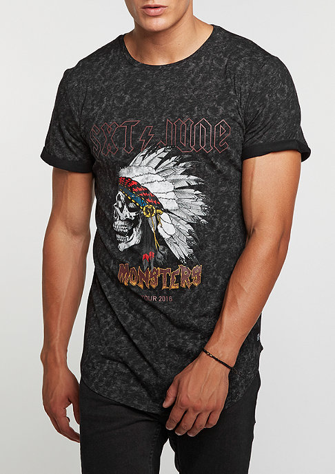 Sixth June T-Shirt Monster Print black acid