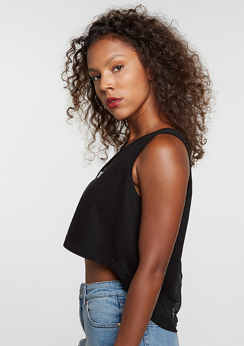 Future Past Lit Cropped Top black