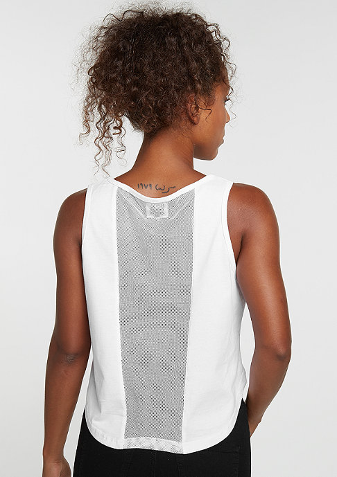 Future Past Tanktop Patch Cropped Top white
