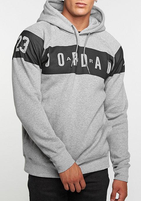 JORDAN Hooded-Sweatshirt Flight Fleece Graphic dark grey heather/black