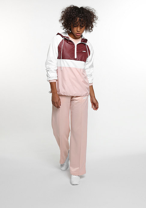 SNIPES Half-Zip Tracktop white/bordeaux/rose