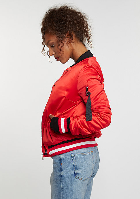 Sixth June Übergangsjacke Varsity Satin Jacket red