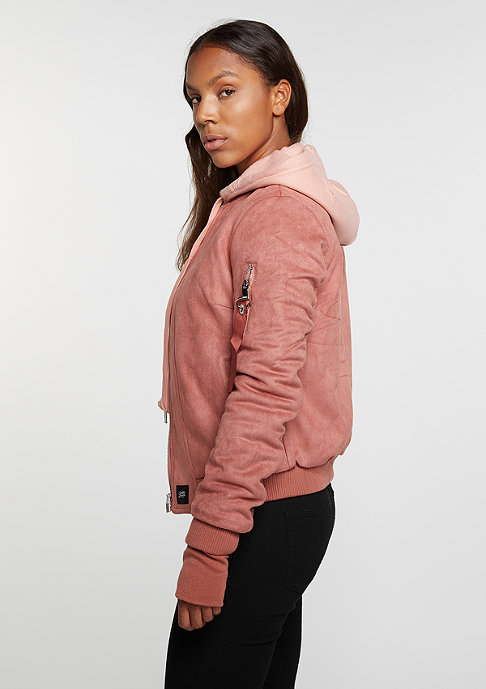 Sixth June Suede Bomber stone pink