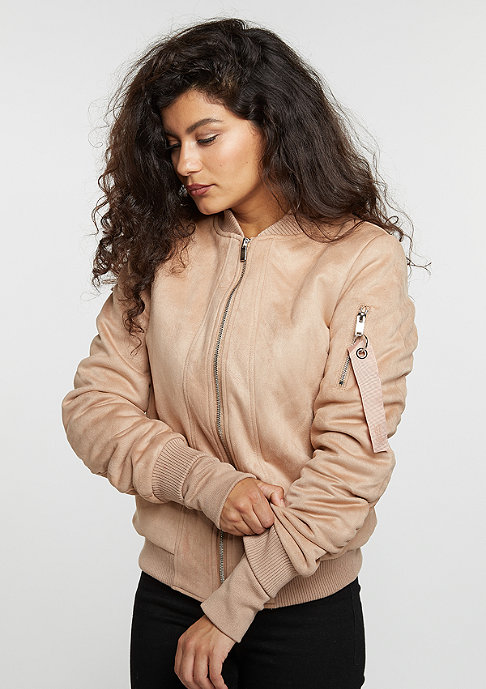 Sixth June Suede Bomber beige