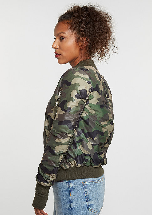 Sixth June Camouflage Bomber green