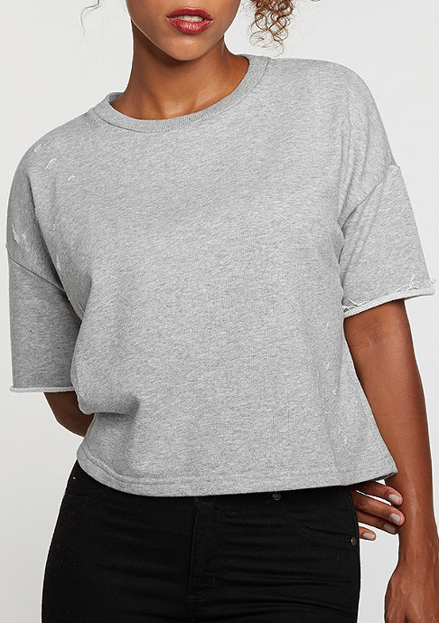 Sixth June Destroyed Crop Top grey
