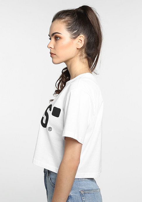 SNIPES T-shirt Basic Cropped white