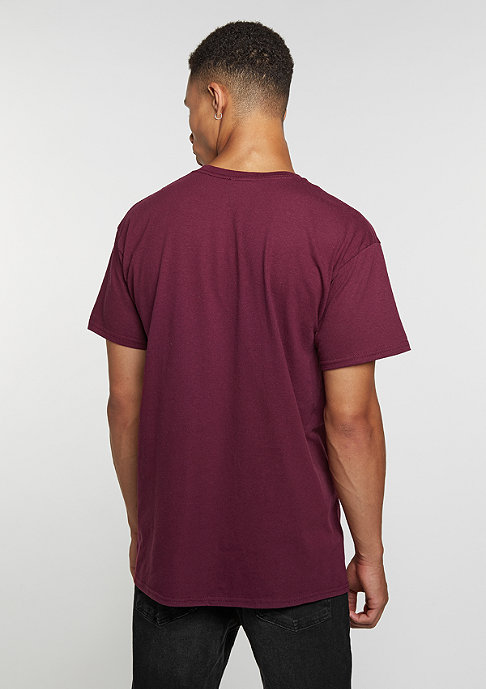 Hype T-Shirt Script burgundy/white