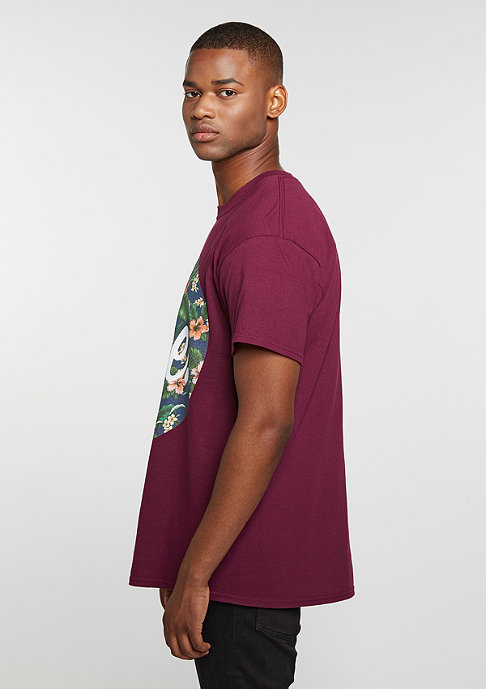 Hype T-Shirt Flower Circle burgundy
