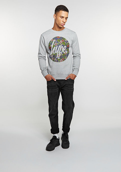 Hype Sweatshirt Flower Circle grey