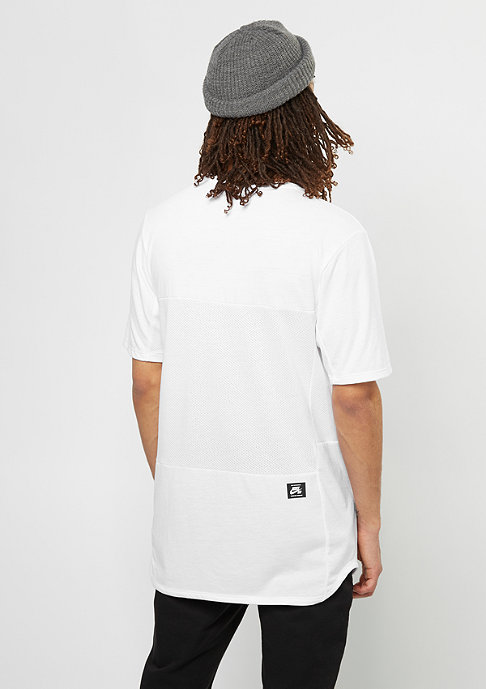 NIKE SB T-Shirt Dry white/black