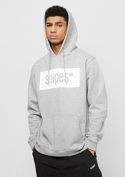 SNIPES Box Logo heather grey/white