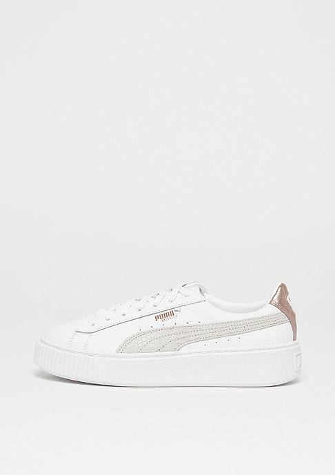 puma basket platform rose gold