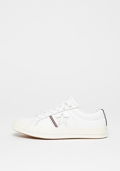 Converse One Star Ox Calzado white/red/egret